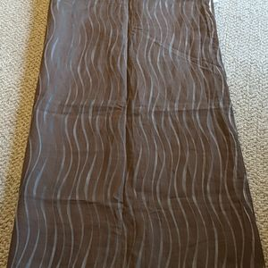 Two Pier 1 sheer curtain panels